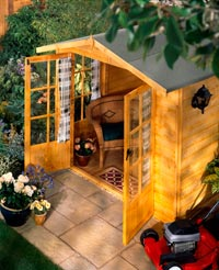Wooden backyard shed