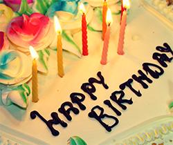 Birthday cake with Happy Birthday writing