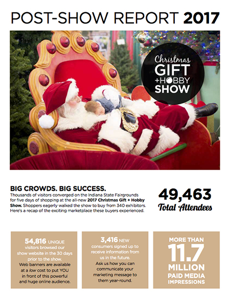 Christmas Gift + Hobby Show - Show Guide Cover
